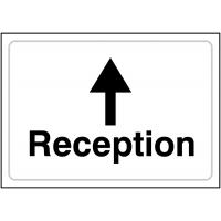 Reception Direction Sign (Forward Arrow)