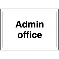 Plastic Admin Office Signs