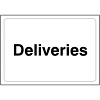 Purposeful and bold deliveries sign