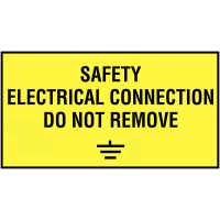 Electrical Connection Do Not Remove Labels