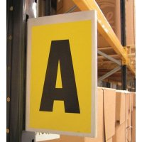 Magnetic or Self-Adhesive Aluminium Warehouse Bay Marking Signs