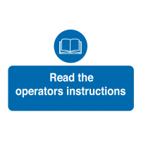 Pack of 10 Tamper-Proof 'Read The Operators Instructions' Labels