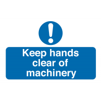 Tamper-Proof Keep Hands Clear of Machinery Labels