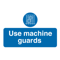 'Use Machine Guards' Destructible Crumble Away Safety Labels