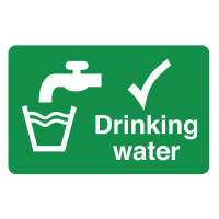 Clear, internationally recognised destructible drinking water labels
