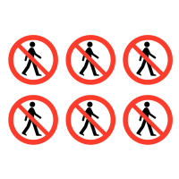 "Restrict business premises with our ""No Admittance"" vinyl safety labels"