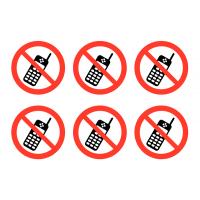 """No Mobile Phones"" Vinyl Labels"