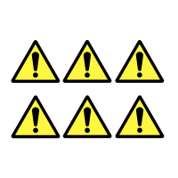 Sheet of Self-Adhesive Vinyl General Hazard Symbols
