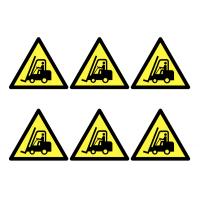 Vinyl Forklift Truck Warning Symbol Labels