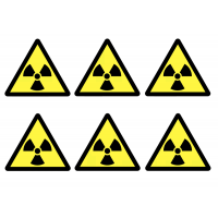 Self-Adhesive Vinyl Radioactive Symbol Labels Sheet