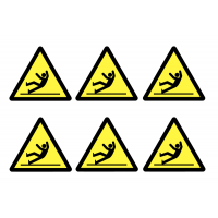 Slippery Surface Self-Adhesive Vinyl Warning Labels
