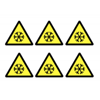 Self-Adhesive Vinyl Low Temperature Warning Labels