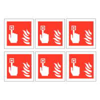 Fire Alarm Call Point Symbol Vinyl Labels On A Sheet