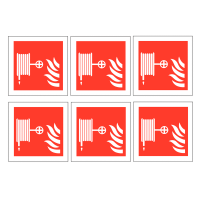 Easy peel Fire Hose Reel Safety Labels On a Sheet