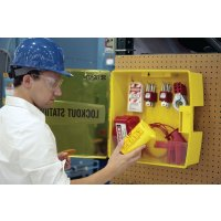 Portable, Highly-Visible Polypropylene Padlock or Lockout Station