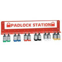Easy and accessible padlock stations