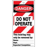 10 Do Not Operate Machinery Lockout Safety Tags