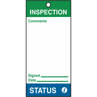 Pre-Punched Plastic Inspection Status Tags