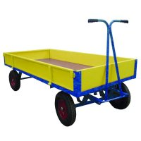 Heavy-Duty Turntable Goods Truck with Metal or Plywood Sides