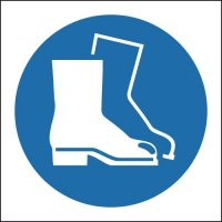 Safety Boots Mandatory Symbol Sign