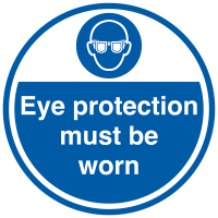 """Eye protection must be worn"" anti-slip floor sign"