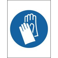 High Gloss Gloves Symbol Sign