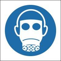 Mandatory respiratory protection symbol sign