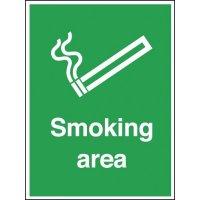 Aluminium Outdoor Smoking Area Sign