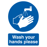 "Highly Visible ""Wash Your Hands Please"" Signs"