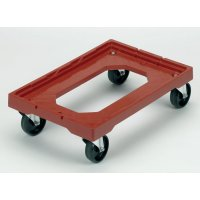Heavy Duty Euro Stacking Container Dolly in Red