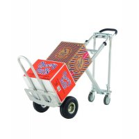 3-way Aluminium Sack Truck with Optional 4-wheel Mode