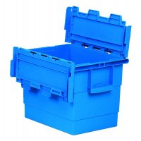 Heavy Duty Plastic Attached Lid Containers
