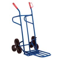 Stairclimber lifting truck with twin footplate
