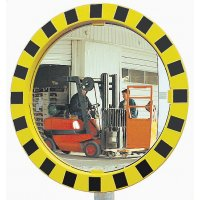 Round Industrial Warehouse Unbreakable Mirror