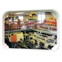 Lightweight, Unbreakable White-Framed Mirror for Traffic or Security Purposes