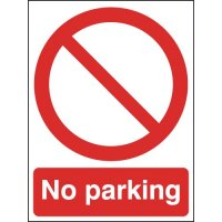 Aluminium 'No Parking' Signs For Outdoor Use