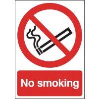 Freestanding Plastic No Smoking Signs