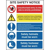 Multi-Message Site Safety Notice Signs