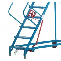 Highly Durable Powder-Coated Steel Safety Steps