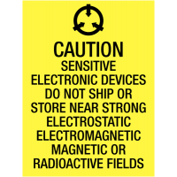 'Caution Sensitive Electronic Devices' Shipping Labels to Warn Couriers