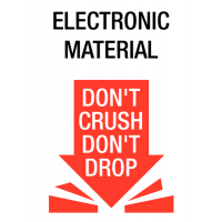 Self-Adhesive 'Electronic Material – Don't Crush, Don't Drop' Shipping Labels