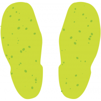 Glow-in-the-Dark Anti-Slip Self-Adhesive Footprint Markers