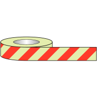Glow-in-the-Dark High-Visibility Striped Safety Tape