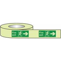 British Standard Fire Exit Right-Pointing Tape