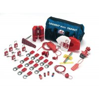 Complete lockout and tagout valve/electrical kit