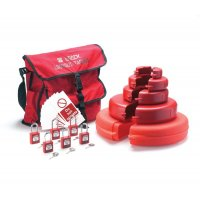 Versatile Brady gate valve wheel lockout safety kit