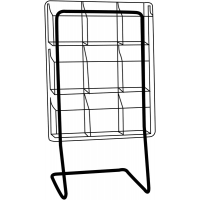 Deluxe Brochure Display Rack Floor Stand for magazines, leaflets and documents