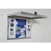 Aluminium, lockable external poster frames