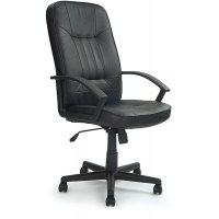 Comfortable and stylish leather effect executive chair