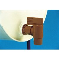 Large Bore, Threaded, Polyethylene Tap for Emptying Drums